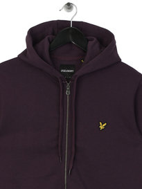Lyle & Scott Zip Through Hoodie Plum