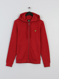 LYLE & SCOTT ZIP THROUGH HOODIE RED
