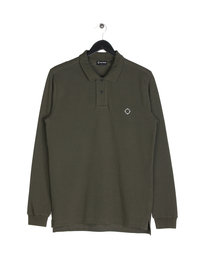 Ma.Strum AKULA Long Sleeve Pique Polo Green