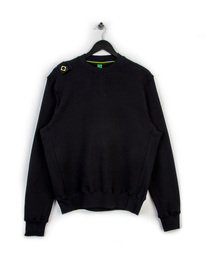 MA.STRUM CORE HERRINGBONE CREW SWEAT BLACK
