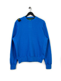 MA.STRUM CORE HERRINGBONE CREW SWEAT BLUE