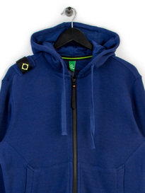 MA.STRUM HOODED ZIP THROUGH SWEAT BLUE