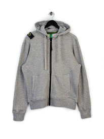 MA.STRUM HOODED ZIP THROUGH SWEAT GREY