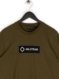 Ma.Strum Icon Box Logo T-Shirt Khaki