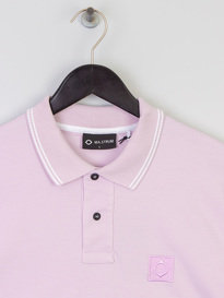 MA.Strum Icon Tipped Pique Polo Parma Violet