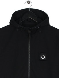 MA.Strum Lamprey Zip Up Hooded Sweat Black
