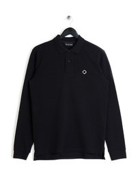 MA.Strum Long Sleeved Pique Icon Polo Black