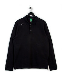 MA.STRUM LONG SLEEVE PIQUE POLO BLACK