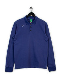 MA.STRUM LONG SLEEVE PIQUE POLO BLUE