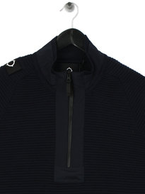Ma.Strum Merino Quarter Zip Navy