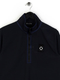 MA.Strum Pique Icon 1/4 Zip Pocket Pullover Dark Navy