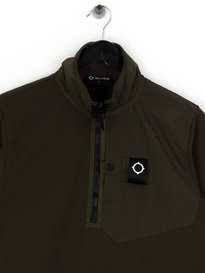 MA.Strum Pique Icon 1/4 Zip Pocket Pullover Khaki