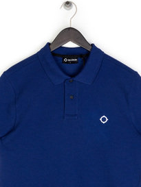 Ma.Strum Pique Icon Polo Shirt Blue