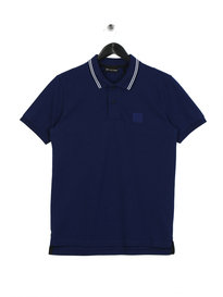 Ma.Strum Pique Icon Tipped Polo Indigo