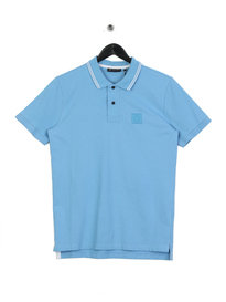 Ma.Strum Pique Icon Tipped Polo Blue