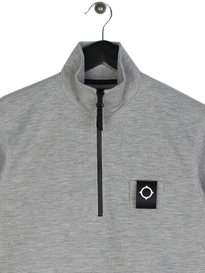 Ma.Strum Scamp Half Zip Sweat Grey