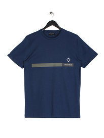 Ma.Strum YMER Short Sleeve Graphic T-Shirt Blue