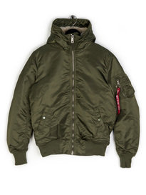Alpha Industries MA-1 Hooded Jacket Green