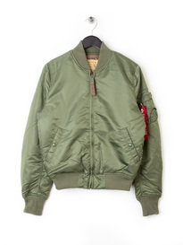 Alpha Industries Ma1 Flight Bomber Jacket Green