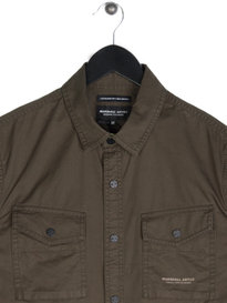 Marshall Artist Dual Pocket Military Long Sleeve Shirt Green