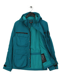 Marshall Artist Garment Dyed Field Jacket Teal Green