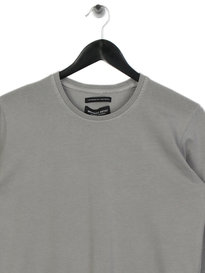 Marshall Artist Garment Dyed Long Sleeve T-Shirt Light Grey