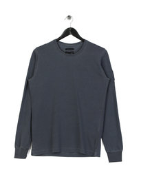 Marshall Artist Garment Dyed Long Sleeve T-Shirt Navy