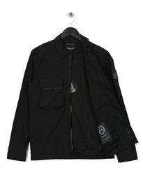 Marshall Artist Liquid Bellow Pocket Overshirt Black
