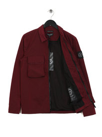 Marshall Artist Liquid Bellow Pocket Overshirt Burgundy