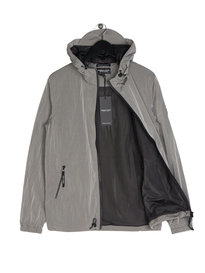 Marshall Artist Liquid Nylon Windrunner Silver