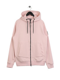 Marshall Artist Siren Zip Through Hoodie Pink