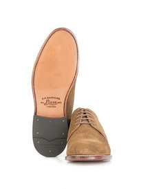 G.H Bass & Co. Monogram Derby II Suede Shoes Tan