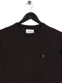 Farah Mullen Wool Crewneck Sweat Red