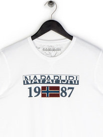 Napapijiri Solin SS T-Shirt White