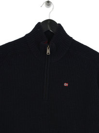 Napapijri Dosang Zip Up Knit Navy
