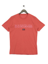 Napapijri Graphic T-Shirt Red