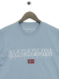 Napapijri Graphic T-Shirt Sky Blue