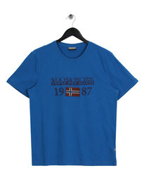 Napapijri Solin Short Sleeve 1 T-Shirt Blue