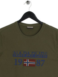 Napapijri Solin Short Sleeve 1 T-Shirt Green