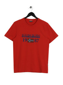 Napapijri Solin Short Sleeve 1 T-Shirt Red