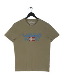 Napapijri Solin Short Sleeve T-Shirt Green