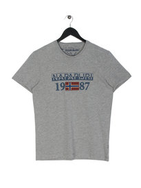 Napapijri Solin Short Sleeve T-Shirt Grey