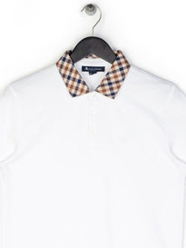 Aquascutum Nathan CC Collar Polo Shirt White
