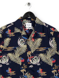 Only & Sons Christopher SS AOP Shirt Navy