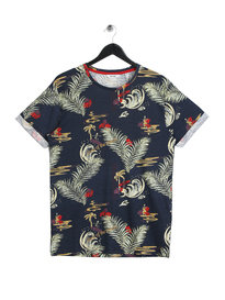 Only & Sons Devin AOP Fitted T-Shirt Navy