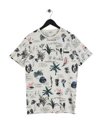 Only & Sons Dimas Slub AOP T-Shirt Off White