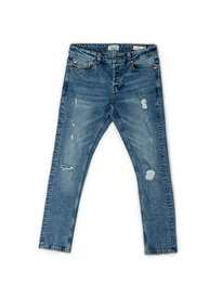 Only & Sons Spun Blue Damage Denim