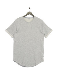 Only & Sons Tam Short Sleeve Curved T-Shirt Light Grey