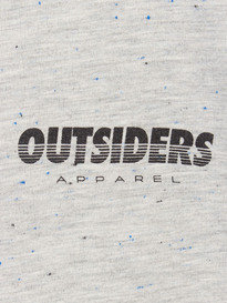 OUTSIDERS APPAREL GRID SPECKLED TEE HEATHER GREY