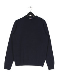 Paul & Shark Knitted Button Crew Neck Navy